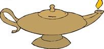 褐色阿拉丁神灯