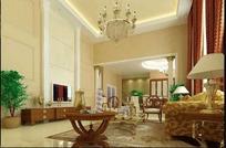 华贵典雅风格客厅装饰设计效果图