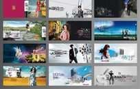 华丽创意企业宣传册模板素材