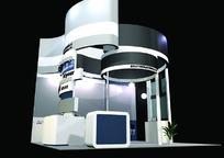 华丽唯美圆形展厅3D模型设计