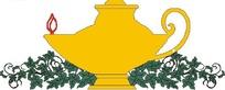 黄色阿拉丁神灯