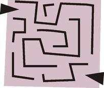 迷宫线路插画