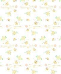 暖黄色蝶花起舞底纹图案