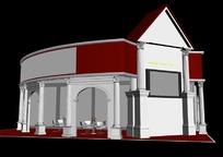 欧式风格商业展厅设计效果图