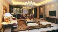 奢华欧式小客厅3dmax模型
