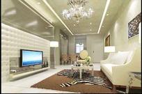 时尚唯美风格客厅装饰设计效果图