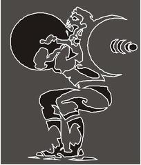 人物简笔画 跑步玩滑板欢呼举重的人合辑