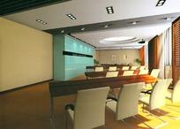 小型会议室 3D模型图