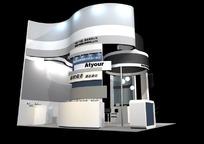 兄弟商业公司展厅3D效果图