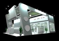 银灰色展厅效果图3D模板素材