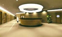 医院服务站台3D模型图
