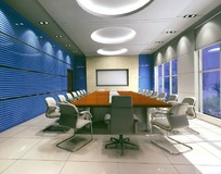 中型会议室 3D模型图
