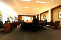 中型会议室3D设计效果图