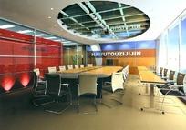 中型会议室3D效果图