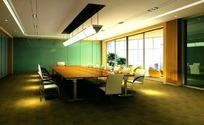 中型会议室  max效果图
