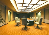 中型会议室设计效果图