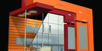 橙色豪华新颖展厅设计效果图模板素材