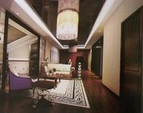 复式二楼小客厅装饰设计效果图
