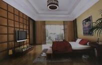 高档豪华卧室设计3D模型图
