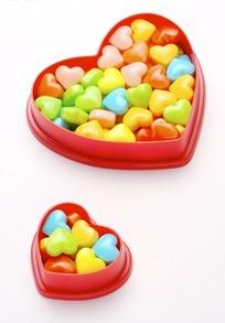 红色心形糖盒心形彩色糖果