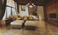 华贵复式客厅装饰设计效果图