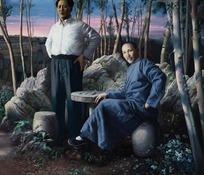 毛泽东与蒋介石画像