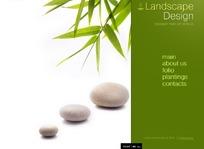 欧美景观设计网页模板PSD素材