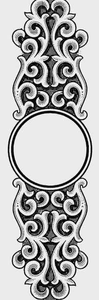 欧式古典黑白花纹边框图案素材