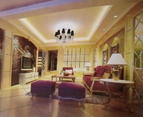 欧式客厅装饰设计效果图