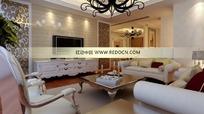 现代欧式混搭客厅及餐厅3dmax模型