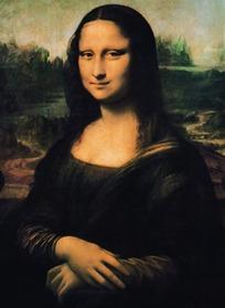 油画蒙娜丽莎的微笑