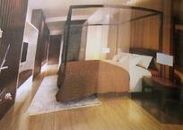 中式卧室设计3D模型图