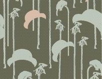 卡通椰树和帽子图案