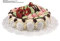 美味的草莓巧克力蛋糕