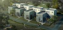欧式连体住宅楼建筑景观效果图