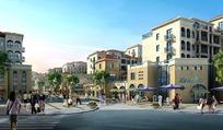 商铺街道和游人景观效果图