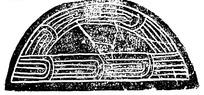 中国古典图案-简单线条构成半圆形图案