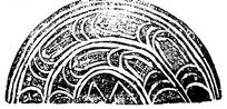 中国古典图案-简洁线条构成的半圆形的拙朴图案