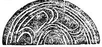 中国古典图案-曲线构成的半圆形图案