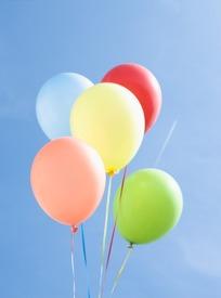 可爱彩色小气球底纹卡片设计图片