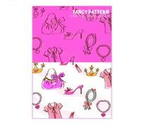 包包/化妆镜/口红/皇冠/高跟鞋/衬衫构成的矢量图