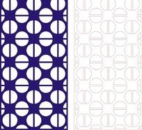 宝蓝色简单半圆组合花纹图案CDR素材