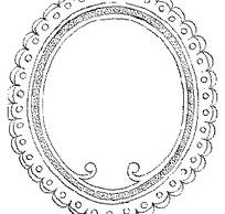 波浪纹和圆形构成的椭圆形边框