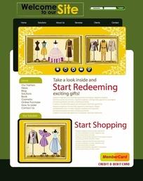 服装商店网页设计模板