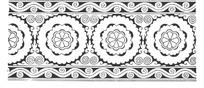 花纹状圆形二方连续图案