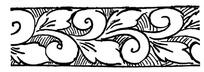 简单的矢量花纹雕刻素材