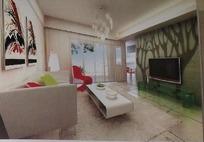 简约唯美客厅装饰设计效果图