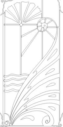 卷曲纹/曲线/花朵形/线条构成的花纹图片