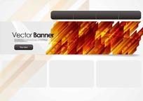 欧美风格网站首页矢量模板EPS格式