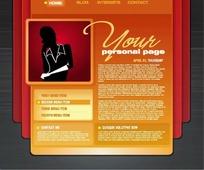 欧美个人主页网页模板